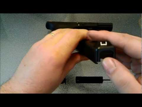 HOW TO CHANGE SLIDE COVER PLATE GLOCK PISTOL