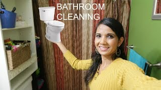 Housewife Cleaning Bathroom Routine | INDIAN MOM IN AMERICA