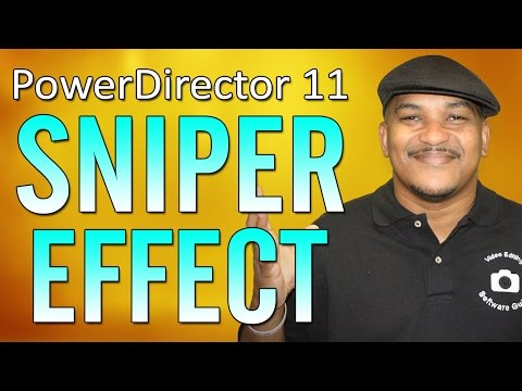 The Sniper Scope Effect - Paint.net / CyberLink PowerDirector 11 Ultimate