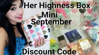 *New Her Highness Mini Box September | Discount Code |  Giveaway Open