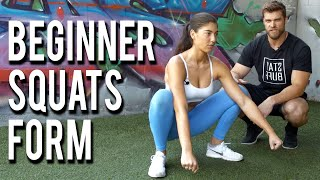 SQUATS FOR BEGINNERS | 3 Easy Tips for Better Squats Form!