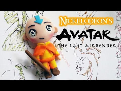 Avatar Aang Chibi Polymer Clay Tutorial / Arcilla Polimérica