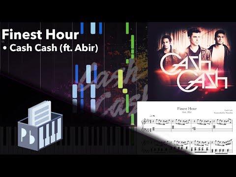 Finest Hour (feat. Abir) - Cash Cash [Piano Tutorial] (Synthesia) // Pianobin + Sheets/Midi