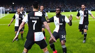 PES 2020 GAMEPLAY - JUVENTUS vs PES LEGENDS NO ALLIANZ STADIUM CRISTIANO RONALDO