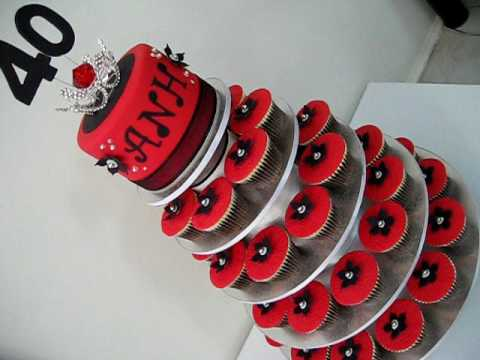 Tags: wedding style cupcakes fondant cake decorating 40th birthday cupcake