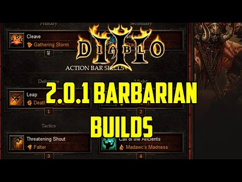 My Patch 2.0.1 Barbarian Builds