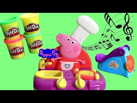 Peppa Pig Sing-along Kitchen Using Play-doh Fun Factory Spin 'n Store - Play Dough Mega Fábrica Loca video