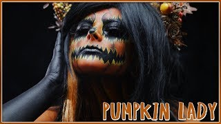 Scary Pumpkin Lady  || FACEPAINTING