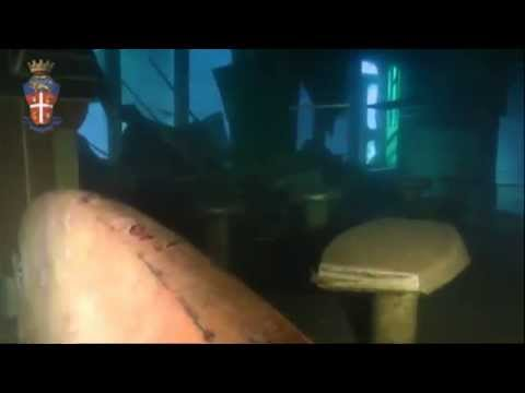 Underwater footage from inside the Costa Concordia released by Italian police | Channel 4 News