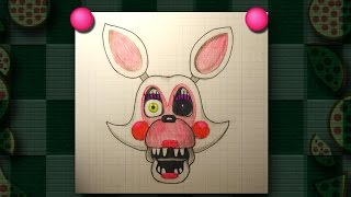 How to Draw Mangle easy. FNAF five nights at freddy