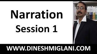 Best Rules and Concept of Narration ( Direct Speech- Indirect Speech) Session 1