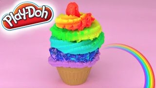Play Doh Rainbow Frosting Cupcake Super Easy