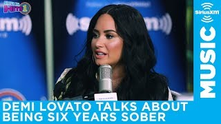 Demi Lovato talks about how she celebrated reaching six years sober with The Morning Mash Up