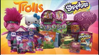 Hatchimals , Cupcake Surprise , Shopkins , Trolls and Lalaloopsy blind bags opening - Surprise party