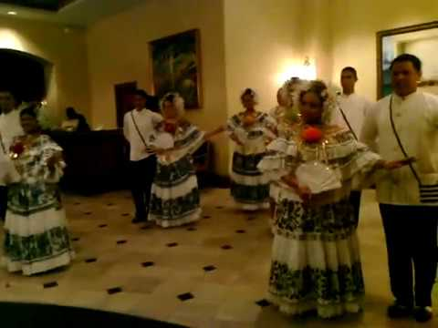 Panama baile tipico CONTRADANZA en Hotel Marriott Panama