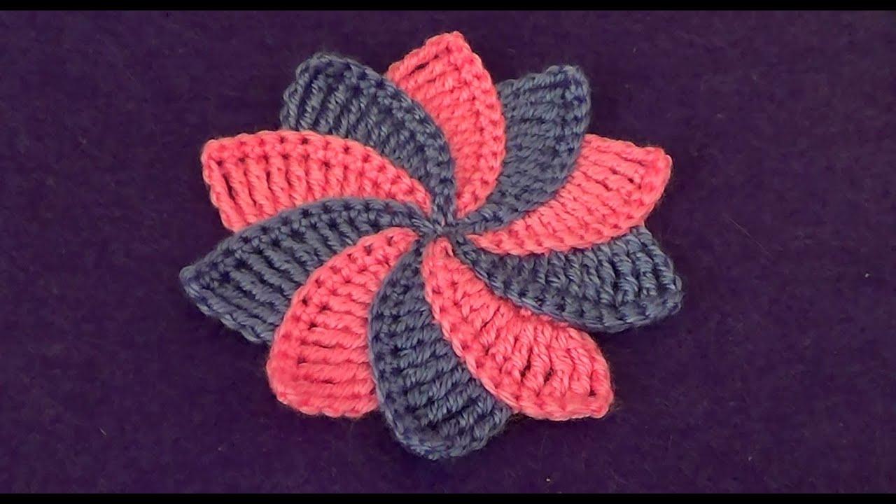 Вязание из разноцветных цветков