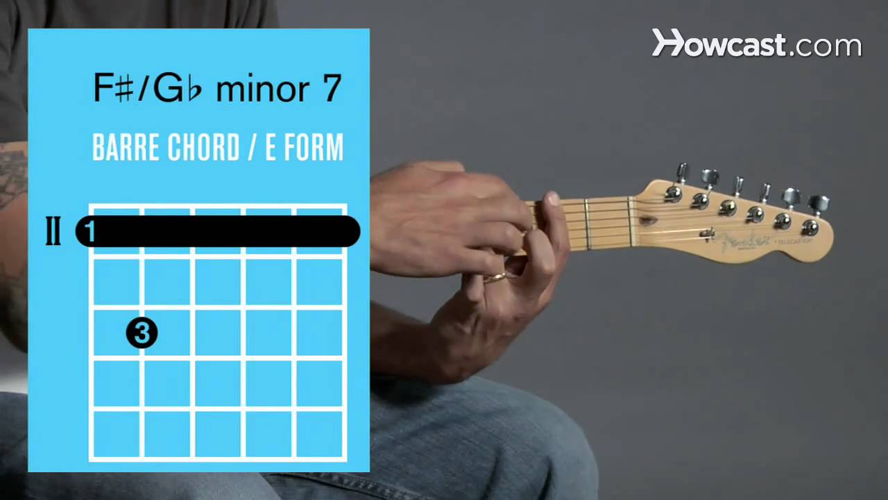 How to Play an F   Minor 7  F Sharp Minor Bar Chord