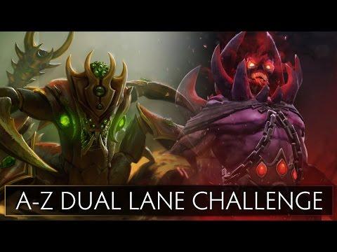 Dota 2 AZ Dual Lane Challenge  Sand King and Shadow Demon