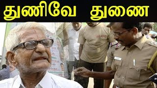 Live Social activist 'Traffic' Ramaswamy removes TN CM EPS & OPS Banners