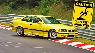 Big Dangerous Slippery & Rainy Nürburgring Compilation Crash & Fail Compilation Nordschleife