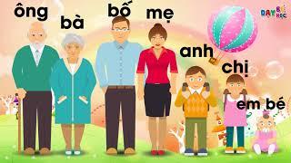 Dạy bé học nói   Dạy bé học các thành viên trong gia đình ông bà bố mẹ