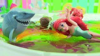 Cách Làm Biển Slime Cầu Vòng / How To Make Rainbow Slime Beach