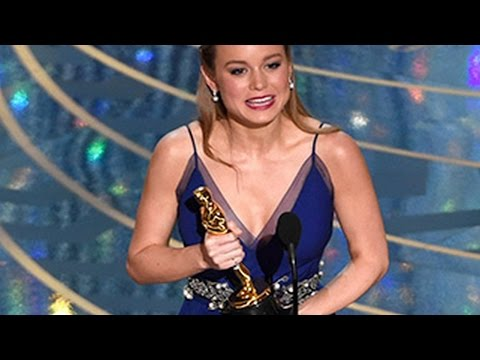 Oscar Awards 2016 - Brie Larson WINS Best Actress Awards At Oscar Awards 2016
