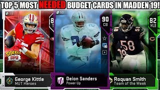 TOP 5 MOST NEEDED BUDGET CARDS IN MADDEN 19 ULTIMATE TEAM! BUDGET BEASTS! | MADDEN 19 ULTIMATE TEAM