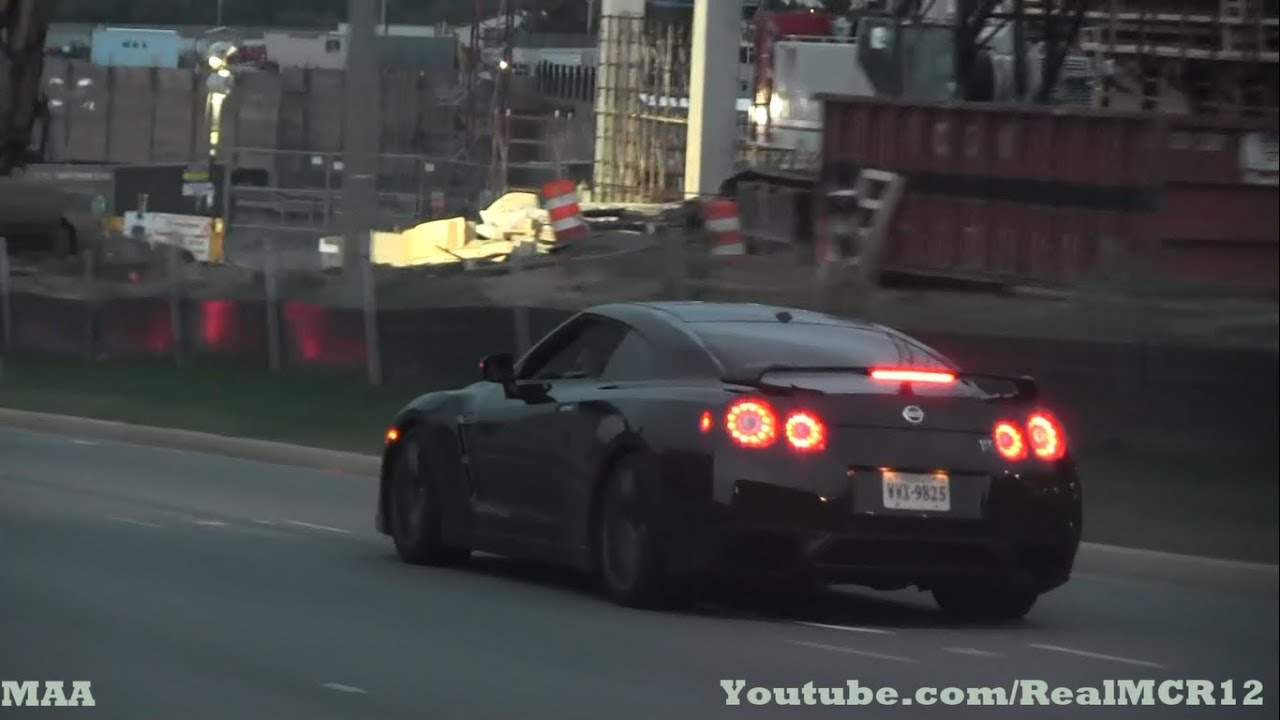 loud nissan gtr on the road youtube. Black Bedroom Furniture Sets. Home Design Ideas
