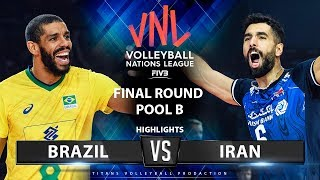 Brazil vs Iran | Highlights | Final Round Pool B | Men's VNL 2019