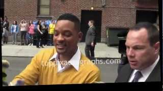 "Will Smith - Signing Autographs at the ''Late Show with David Letterman"" in NYC"