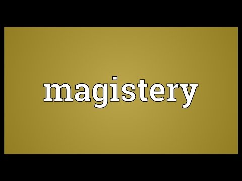 Header of magistery