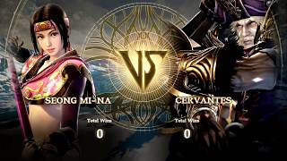 SoulCalibur VI - Silent Joel (Cervantes) vs kTalon & Hyrul (Seong Mi-na)