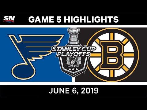 NHL Highlights | Blues Vs. Bruins, Game 5 – June 6, 2019