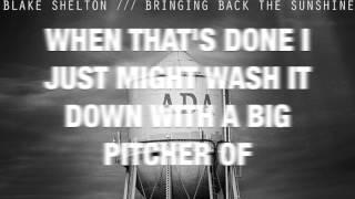 Blake Shelton Video - Neon Light- Blake Shelton (LYRIC VIDEO)