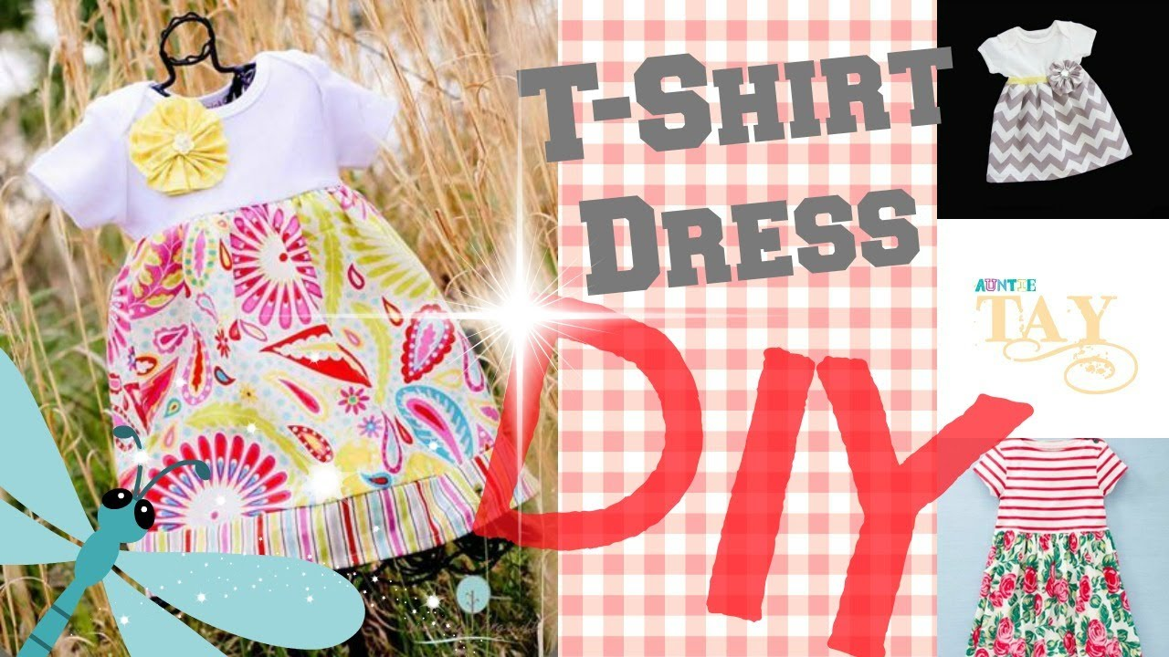 Diy Easy Sew Girls Dresses For Fall DIY Easy T Shirt Dress
