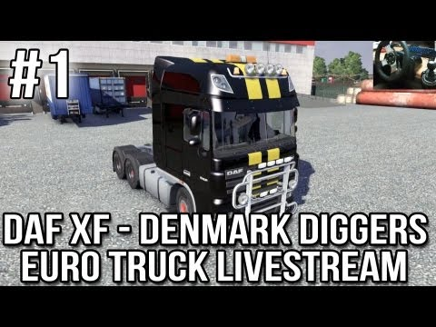 DAF XF Denmark Diggers Part #1 (ETS 2 Live-stream with TSM 3.5 and Desk Cam)