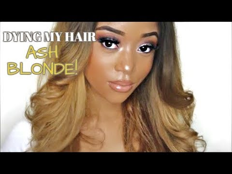 HOW I DYED MY HAIR ASH BLONDE FROM DARK BROWN!! HAIR  SASSYGAL HAIR REVIEW| THEGLAMCHO