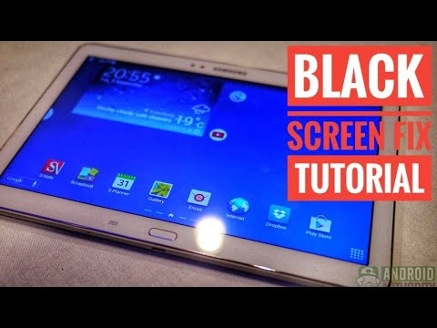 HOW TO FIX GALAXY TAB A NOTE 10.1 SCREEN FROM STAYING BLACK  TUTORIAL