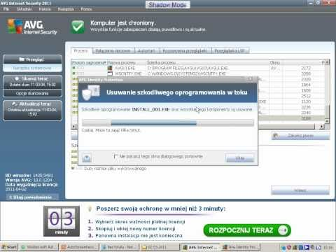 AVG internet security 2011 vs Norton Internet security 2011 test Part 1