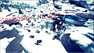 |Griefing CNA D40 &  Pvp'ing at a Pearl Cave| Ark official PvP|