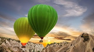 Kapadokya'da balon turu /// Spectacular hot air ballooning in Cappadocia, Turkey