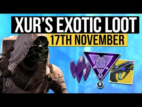 Destiny 2 | NEW XUR LOCATION & EXOTIC LOOT! - Xur's Exotic Weapon & Armor Inventory (17th November)
