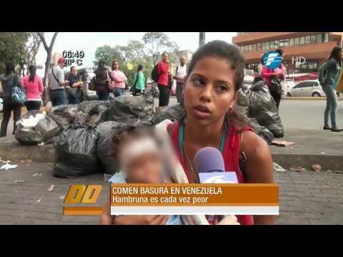 Crisis en Venezuela: buscan comida en la basura