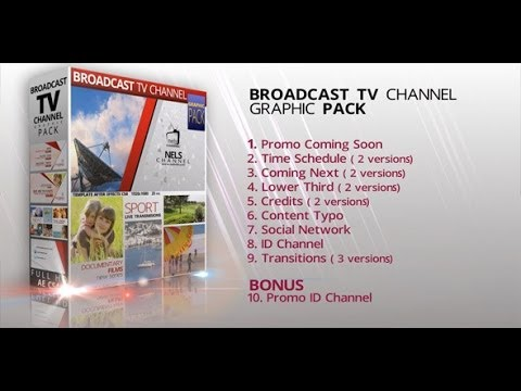 Broadcast Graphic Tv Channel Pack