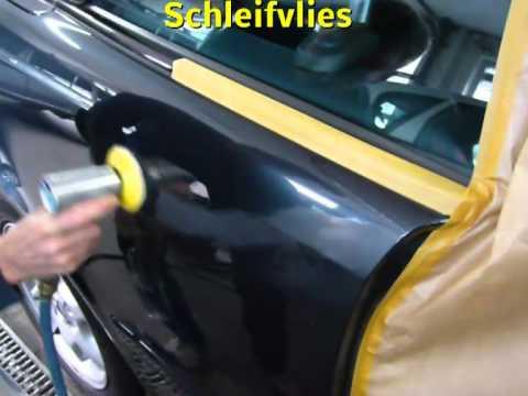 Удаление царапин и полировка кузова Mercedes Benz CLK, видео