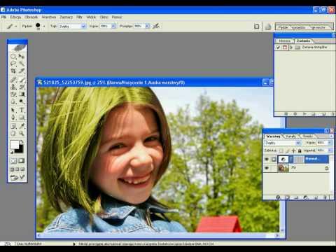 Jak zmienic kolor włosów w Adobe Photoshop