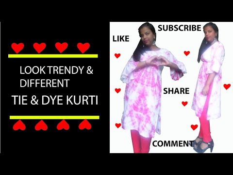how to make Latest tie dye designer kurti designs || By Fashion Desidner Nisha Couture||