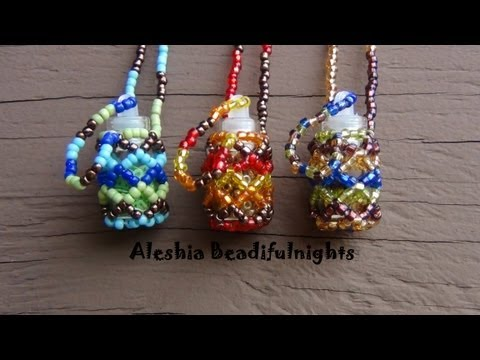 Beaded Bottle Necklace Tutorial