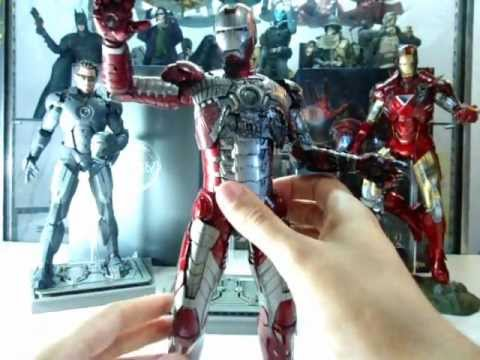 Hot Toys Iron Man Mark IV SP. Mark V y Mark VI review en Español! Habi Toys Toys